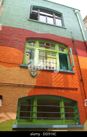 Colourful building at Neal's Yard Covent Garden London - Stock Image