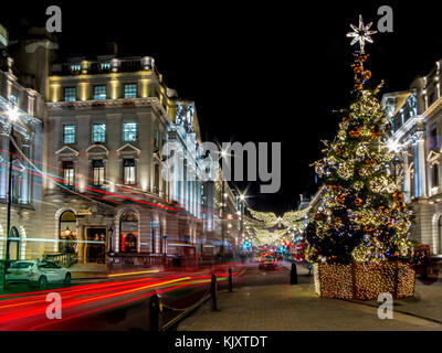 Christmas Lights and Decorations in Lower Regent Street - Stock Image