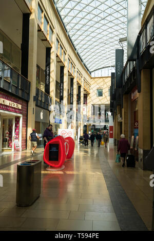 Grand Arcade retail area looking towards Lion Yard - Stock Image