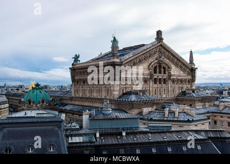 Paris Opera Garnier (Palais Garnier) Roof View, France - Stock Image