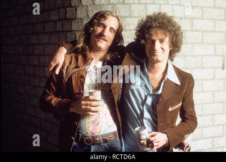 THE EAGLES US rock group with Don Felder at left and Bernie Leadon - Stock Image