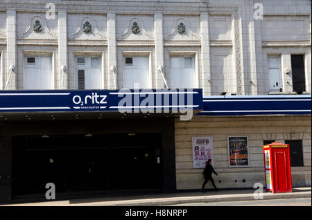 O2 Ritz, Live Music venue, Whitworth Street West, Manchester, England, UK - Stock Image
