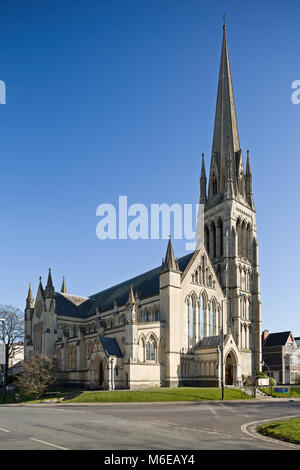 The Anglican Church of Christ Church, Clifton, Bristol, a handsome early Victorian parish church by Charles Dyer - Stock Image
