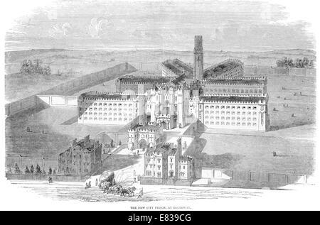 New City Prison Holloway London circa 1885 - Stock Image