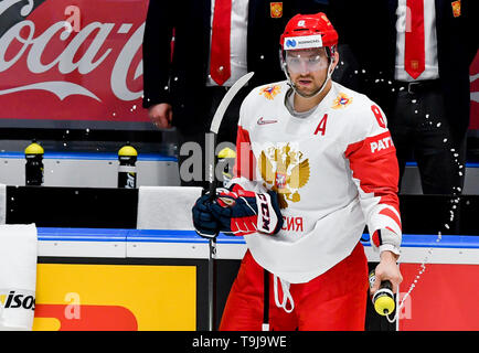 Bratislava, Slovakia. 19th May, 2019. Alexander Ovechkin (RUS) prior to the match between Switzerland and Russia within the 2019 IIHF World Championship in Bratislava, Slovakia, on May 19, 2019. Credit: Vit Simanek/CTK Photo/Alamy Live News - Stock Image