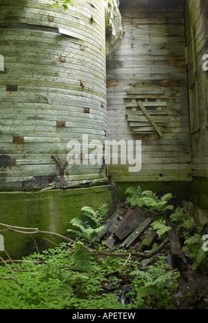 Burlington Vermont wood silo detail - Stock Image