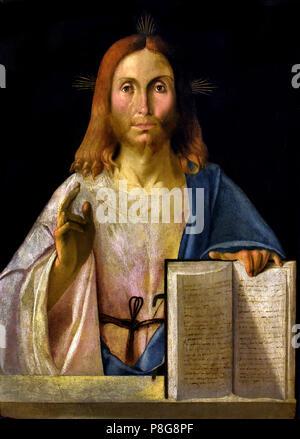 Cristo Redentore - Christ Redeemer by unkown Venetian Painter Venice XVI 16th Century, Italy, Italian. - Stock Image
