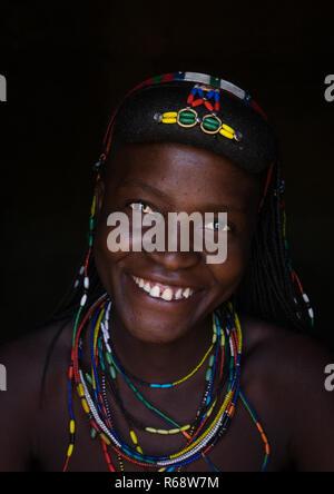 Muhakaona tribe woman, Cunene Province, Oncocua, Angola - Stock Image