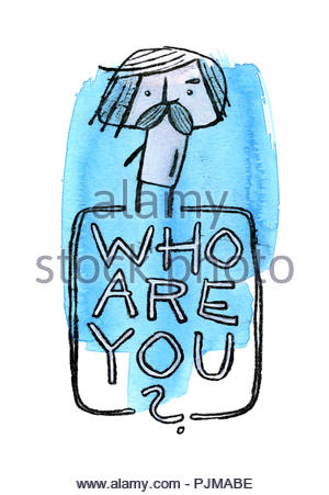 who are you ? - Stock Image