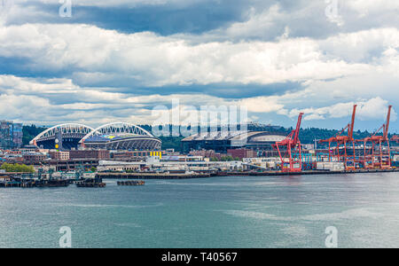 SEATTLE, WASHINGTON - May 19, 2016: Since the mid 90s, Seattle has experienced huge growth in the cruise industry as a departure point for Alaska crui - Stock Image
