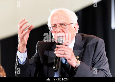 Washington, United States. 17th June, 2019. U.S. Senator Bernie Sanders (D-VT) speaking at the Poor People's Moral Action Congress taking place at Trinity Washington University in Washington, DC. Credit: SOPA Images Limited/Alamy Live News - Stock Image