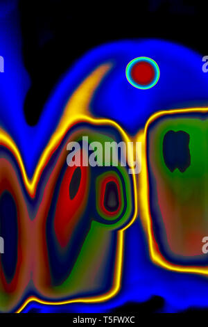 Modern Art Photography Abstract Concentration Creative Devil Satan Spirit of evil India 23/3/2007. - Stock Image