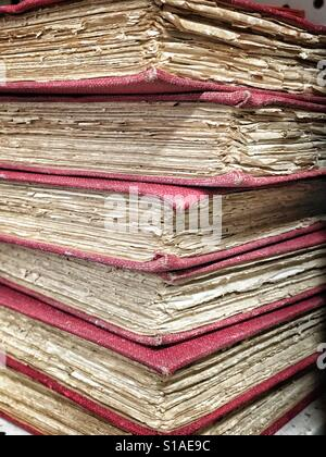 Stack of old books - Stock Image