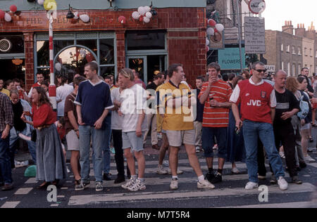 Arsenal Football Supporters - Stock Image