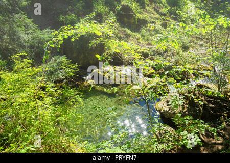 Canyon waterfall - Stock Image