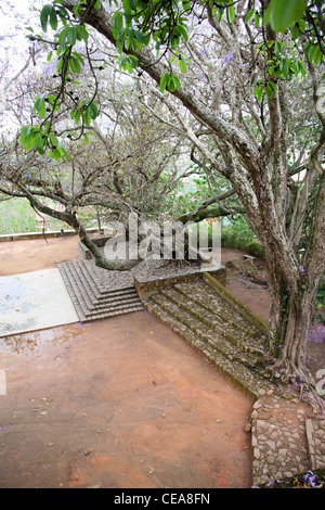 A Part of the Queen's Palace Complex, Antananarivo, Madagascar. Courtyard. - Stock Image