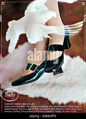 1960s Nova Magazine October 1968 Advertisement for Bally Shoes fashion footwear FOR EDITORIAL USE ONLY - Stock Image