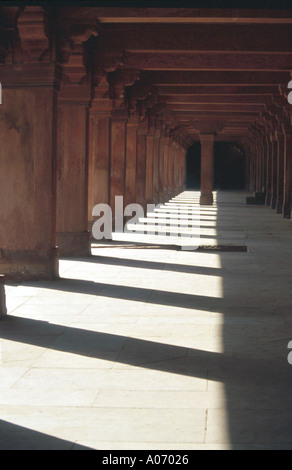 Covered Walkway Agra Fort, Rajasthan, India - Stock Image