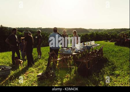 summer party outdoors - Stock Image