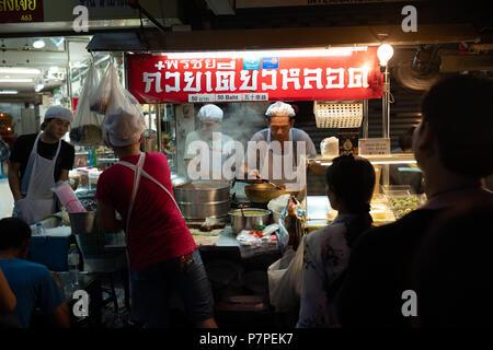 Food stall in Bangkok Chinatown - Stock Image
