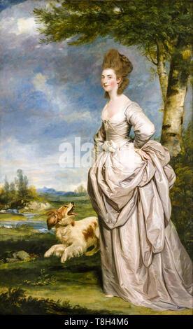 Sir Joshua Reynolds, Mrs Elisha Mathew, portrait painting, 1777 - Stock Image