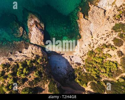 Small hidden beach on Thassos Island - Stock Image