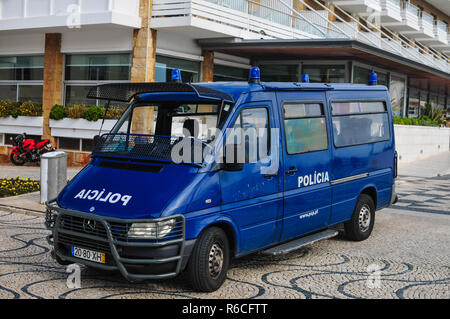 portuguese police vehicle in Portugal - Stock Image