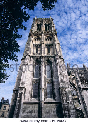 Saint Jacques church in Dieppe, France, a stop on the famed pilgrimage route to Campostela. - Stock Image