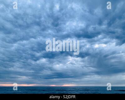Storm clouds over El Porto beach. Manhattan Beach, California USA. - Stock Image