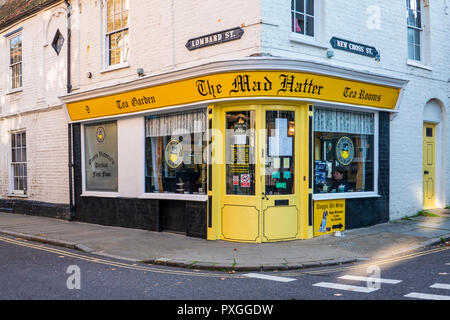 The Mad Hatter,Tea Rooms,Old Town,Margate,Thanet,Kent,England - Stock Image