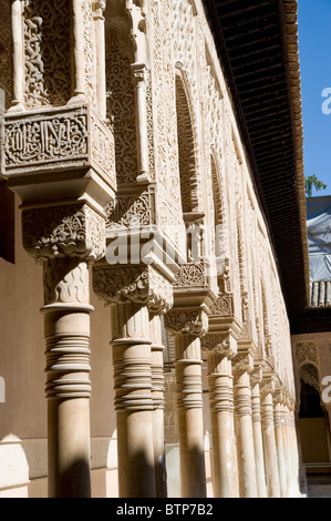Detail, Alhambra Palace, Granada, Andalucia, Spain - Stock Image