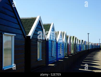 Row of beach huts, southwold, Suffolk - Stock Image