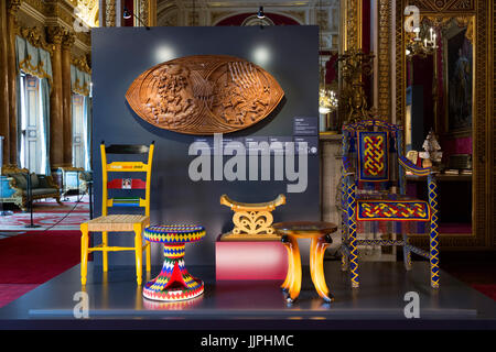 *** EMBARGOED to 00:01 BST, FRIDAY, 21 JULY 2017 *** Pictured: Gifts from African countries. This summer, visitors - Stock Image
