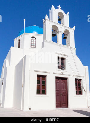 Orthodox Church Oia Santorini Greek Islands - Stock Image