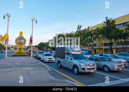 Thanon Ratchadamnoen Klang, Banglamphu, Bangkok, Thailand - Stock Image