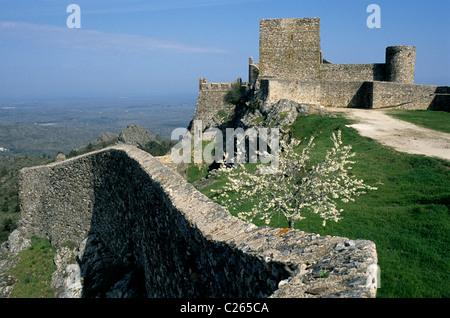 Marvão Castle, located in Portugal's Alentejo province - Stock Image