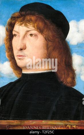 Giovanni Bellini, Portrait of a Venetian Gentleman, c. 1500 - Stock Image