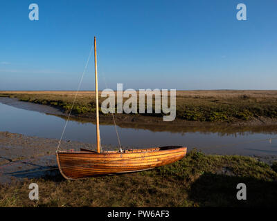 Thornham old harbour in the marshlands near Hunstanton on the north Norfolk coast - Stock Image