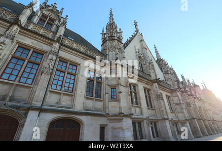 Palace of Justice of Rouen, the capital of the region of Upper Normandy , France. - Stock Image