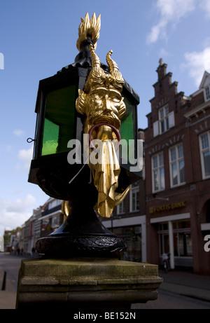 Ornament on Lantern at Town hall, Bolsward, Fryslan, Netherlands - Stock Image
