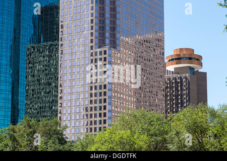 Downtown city buildings Houston Texas USA - Stock Image