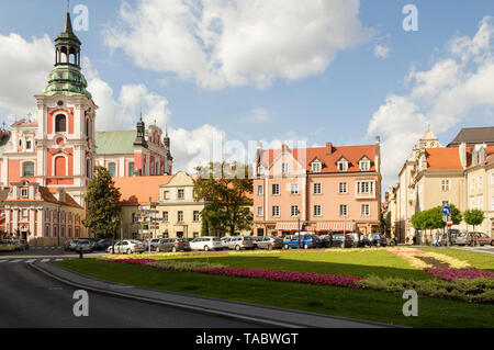 Picturesque colorful view of Collegiate Square in the town of Poznan in Poland. - Stock Image