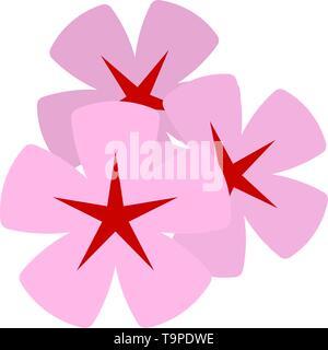 Frangipani Flower Icon. Flat Color Design. Vector Illustration. - Stock Image