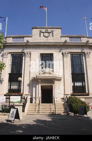Islington Town Hall London - Stock Image