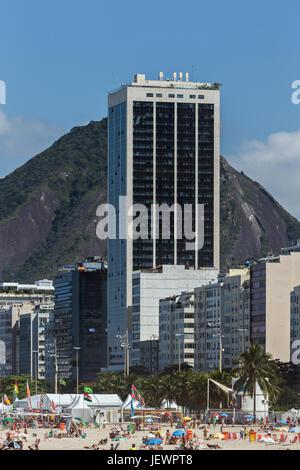 Hotel Windsor Atlantica in Copacabana - Stock Image