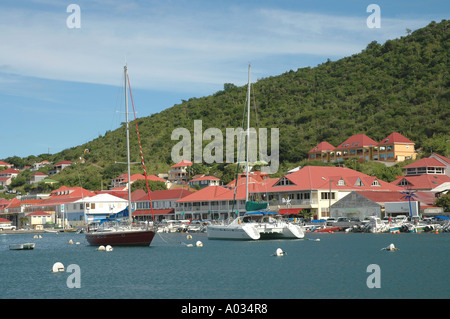 St Barths St Barts Gustavia Harbor - Stock Image