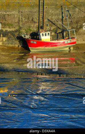 A 'Halfish 24' type trawler named 'Gypsy King' at Padstow harbour, Cornwall. - Stock Image