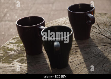 still life with 3 cups - Stock Image