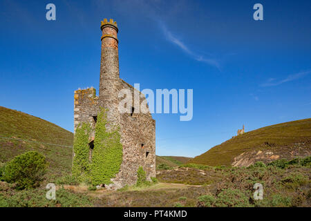 The Engine House at Wheal Ellen mine, near St Agnes, Cornwall, England, UK. - Stock Image