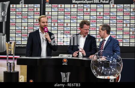Germany, Bamberg, Brose Arena - 20 Jan 2019 - Basketball, German Cup, BBL - Brose Bamberg vs. Telekom Baskets Bonn - Image: BBL Playoff Draw  Photo: Ryan Evans Credit: Ryan Evans/Alamy Live News - Stock Image
